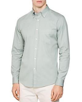 REISS - Blanco Solid Slim Fit Button-Down Shirt