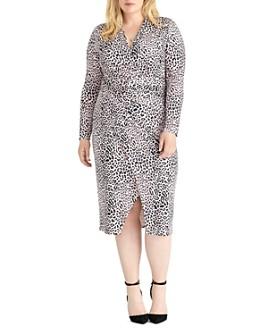 Rachel Roy Plus - Bret Leopard Jersey Ruched Dress