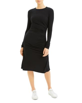 long-sleeve-ruched-dress by theory