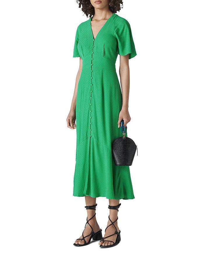 Whistles - Micro Dot Button-Down Dress