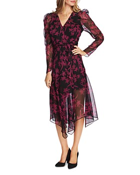 VINCE CAMUTO - Floral-Print Wrap Dress