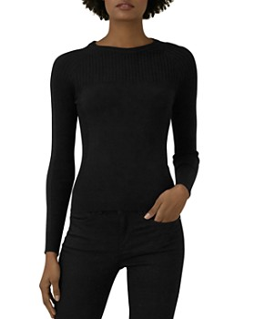 KAREN MILLEN - Ribbed-Detail Sweater