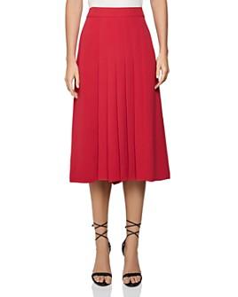 REISS - Cleona Box Pleat Skirt