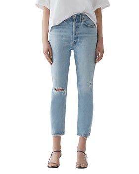 AGOLDE - Riley High Rise Cropped Straight-Leg Jeans in Shatter