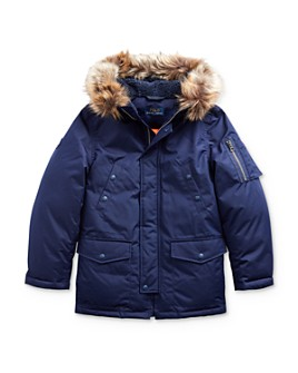 Ralph Lauren - Boys' Faux Fur Trimmed Down Parka - Big Kid