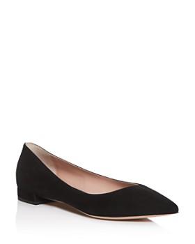 Armani - Women's Pointed-Toe Ballet Flats