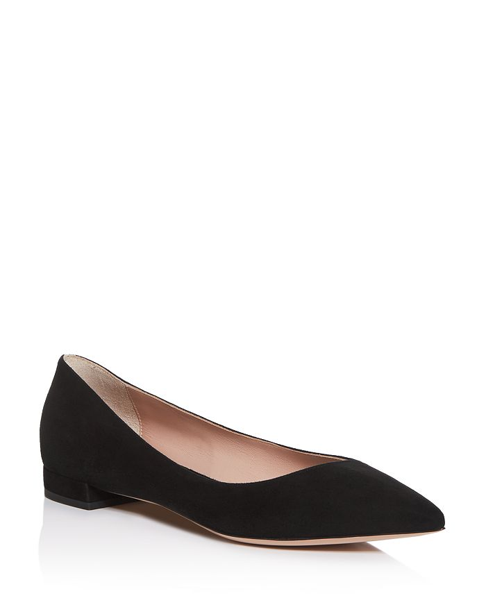 Armani - Women's Pointed-Toe Ballet Flats