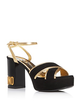 Moschino - Women's Crisscross Strappy Platform Sandals