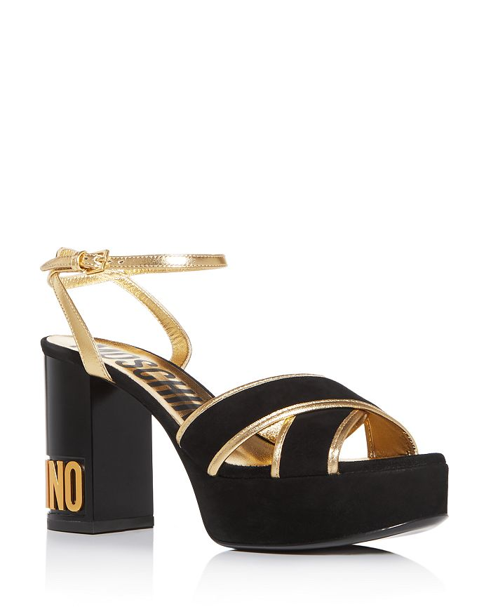 Moschino - Women's Crisscross Strappy Platform Sandals