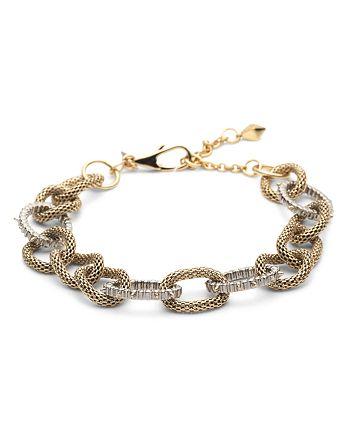Alexis Bittar - Modern Georgian Crystal Encrusted Mesh Chain Link Bracelet