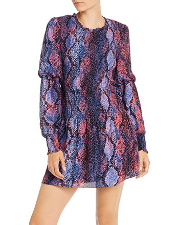 Parker - Lilly Smocked Snakeskin-Print Mini Dress - 100% Exclusive
