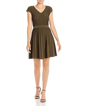 Parker - Flor Seamed Knit Fit and Flare Dress