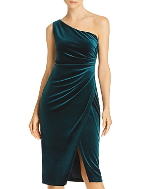 Aqua One-Shoulder Velvet Dress - 100% Exclusive