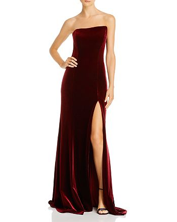 Avery G - Strapless Velvet Gown