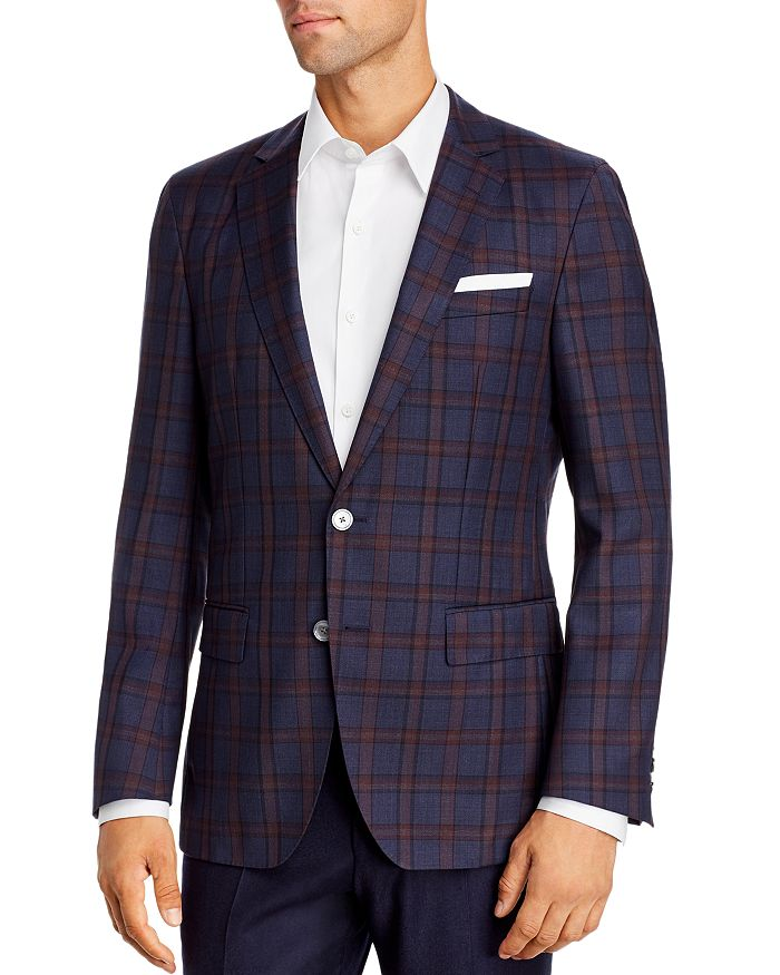 BOSS - Hartlay Plaid Slim Fit Sport Coat