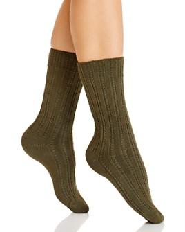 HUE - Temp Tech Stitch Rib Socks