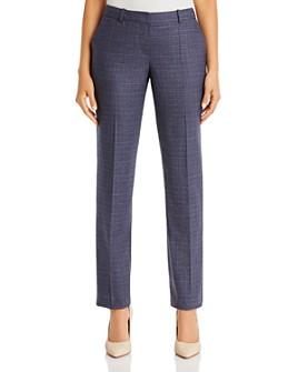 BOSS - Titana Crosshatch Wool Straight Pants