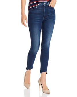 MOTHER - Looker High-Rise Ankle Fray Skinny Jeans in Tongue And Chic