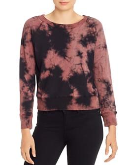 MOTHER - The Shrunken Square Tie-Dye Sweatshirt
