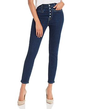 7 For All Mankind - High-Waisted Ankle Skinny Jeans in B(air) Authentic Fate Rinsed