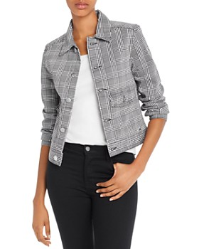 AG - Evonne Workwear Jacket in Black/White Houndstooth