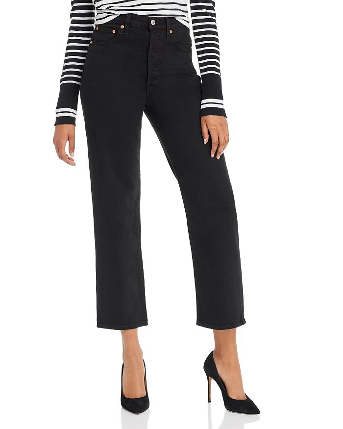 Levi's - Ribcage Straight Ankle Jeans in Black Heart