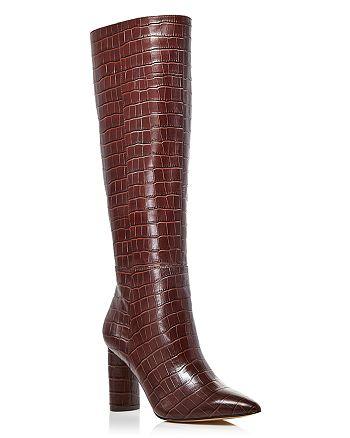 AQUA - Women's Maria Block Heel Tall Boots - 100% Exclusive