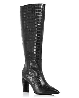 AQUA - Women's Maria Block Heel Tall Boots - 100% Exclusive