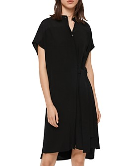 ALLSAINTS - Willow Tie-Waist Shirt Dress