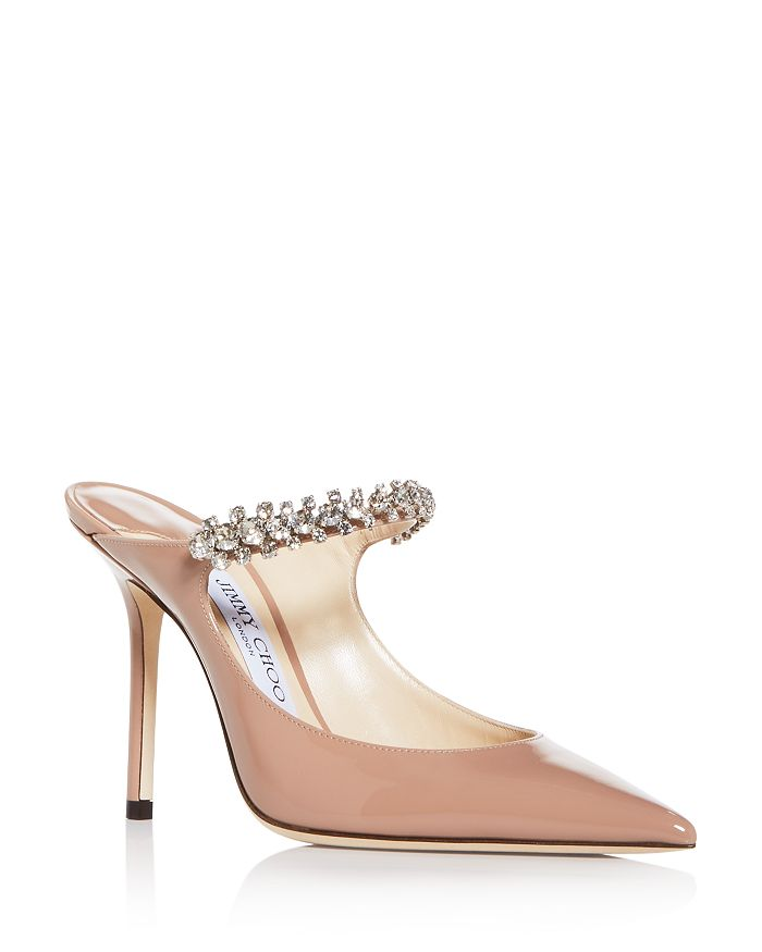 Jimmy Choo Mules WOMEN'S BING 100 EMBELLISHED HIGH-HEEL MULES