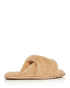 Sorel - Women's Hadley Faux-Fur Slide Slippers