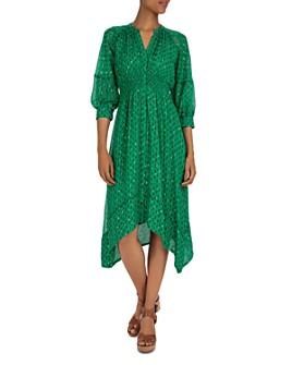 ba&sh - Cyana Balloon-Sleeve Midi Dress