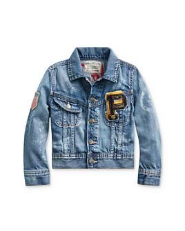 Ralph Lauren - Boys' Denim Graphic Trucker Jacket - Little Kid