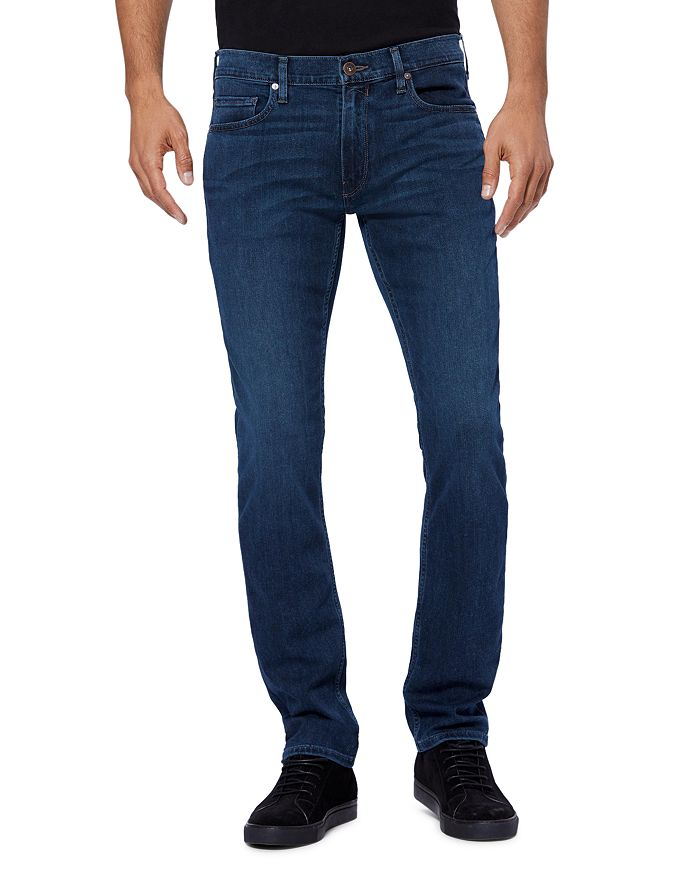 PAIGE - Federal Straight Slim Jeans in Parnell