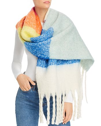 AQUA - Woven Brushed Scarf - 100% Exclusive
