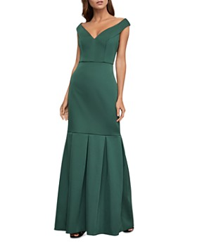 BCBGMAXAZRIA - Portrait-Collar Mermaid Gown