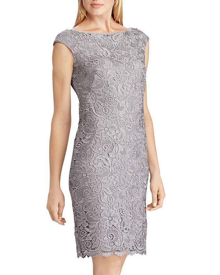 Ralph Lauren - Scalloped Lace Sheath Dress