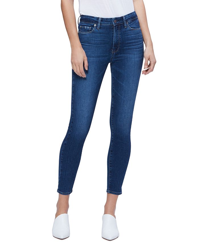 PAIGE - Hoxton Ankle Jeans in Socal