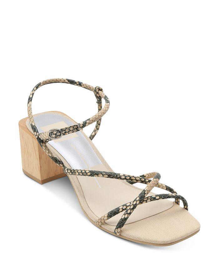 Womens Zayla Wooden Block Heel Sandals
