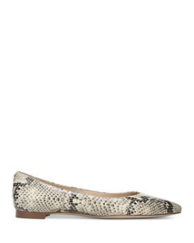 Sam Edelman - Women's Sally Snake-Print Pointed Toe Flats