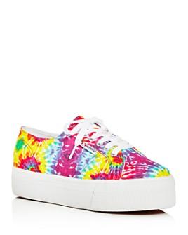 Superga - Women's Tie-Dye Low-Top Platform Sneakers