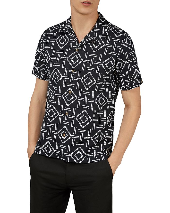 Ted Baker - Simon Block Print Slim Fit Shirt