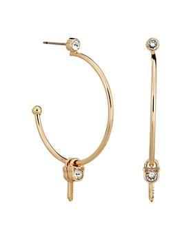 KARL LAGERFELD Paris - Lock & Key Choupette Hoop Earrings