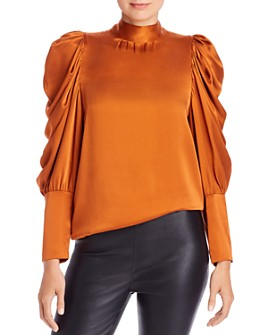 Notes du Nord - Missy Balloon Sleeve Silk Blouse