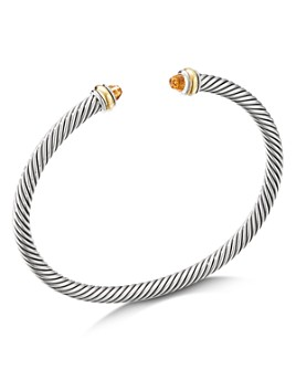 David Yurman - Sterling Silver Cable Classic Bracelet with Gemstones or Sterling Silver