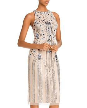 Aidan Mattox - Sequin Column Cocktail Dress