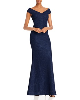Eliza J - Glitter Off-the-Shoulder Gown