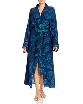 Studio One Eighty Nine - Fern-Print Silk Kimono