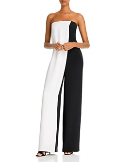 Cushnie - Color-Blocked Wide-Leg Silk Jumpsuit