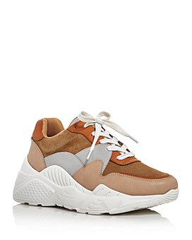 AQUA - Women's Alba Mixed Media Platform Sneakers - 100% Exclusive